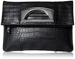 BCBGeneration The Charmed Foldover Clutch, Black, One Size