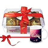 Mesmerizing Treasure Of Wrapped Truffles With Birthday Mug - Chocholik Luxury Chocolates