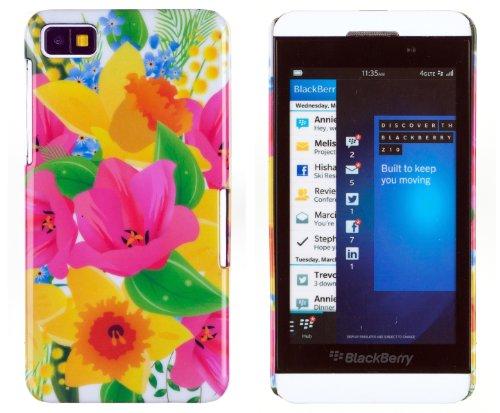 Rainbow Watercolors Pattern Hard Case For Blackberry Z10 + Dandycase Keychain Screen Cleaner [Retail Packaging By Dandycase]