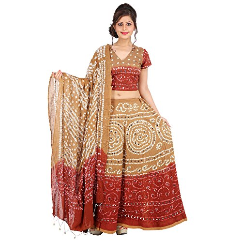 Kiran-Udyog-Gorgeous-Multicolorcolor-Cotton-Handmade-Bhandej-Sequin-Work-Lehenga-Choli-718