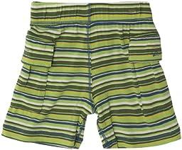 Kickee Pants Print Boy Short (Baby) - Island Boy Stripe-3-6 Months