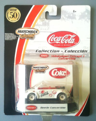 MATCHBOX COLLECTIBLES - 2002 Coca Cola Collection - 1995 Volkswagen Concept 1 Beetle Convertible - 1