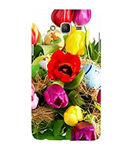 printtech Easter Colored Eggs Back Case Cover for Samsung Galaxy On5