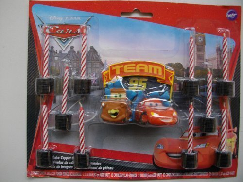 1 X World of Cars Molded Candle Candles (11 per package) [Toy]