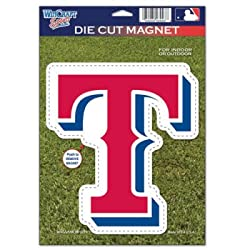 TEXAS RANGERS OFFICIAL LOGO 6x9 DIE CUT MAGNET