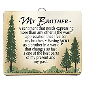 My Brother Plaque - Wood Wall Hanging Family Love and Appreciation