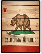 California Republic Flag wood pattern Fleece Blankets Throws 58 x 80 inchesLarge