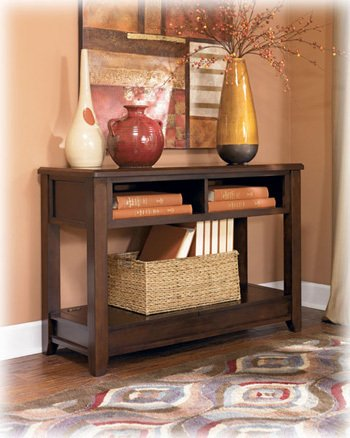 Imagen de Medium Brown Sofa Table Console - Signature Design by Ashley Furniture