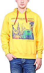 Priknit Men's Cotton Sweatshirt (IH-SS2-44 YELLOW, Yellow, 44)
