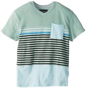 Calvin Klein Boys 8-20 Engineered Jersey Stripe V-Neck T-Shirt from Calvin Klein