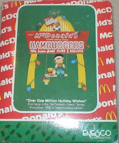 Vintage Mcdonalds Christmas Ornament 'Over One Million Holiday Wishes