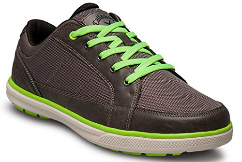 Callaway Footwear Men's Del Mar Ballistic Golf Shoe, Grey/Grey/Lime, 11.5 M US
