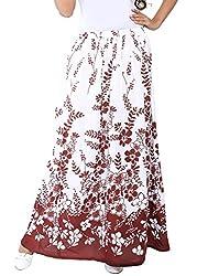 LIBA Women's Skirt (LE-RY-11 _White_Large)