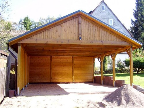 carport satteldach sunshine i solar 600x600cm kvh holz. Black Bedroom Furniture Sets. Home Design Ideas