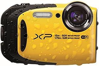 Fujifilm FinePix XP80 Fotocamera Digitale, 16 Megapixel, Sensore CMOS, Zoom 5x, Impermeabile 15 Metri, Stabilizzatore Meccanico, Giallo
