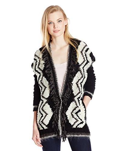 Velvet by Graham & Spencer Women's Chevron Print Sweater Cardigan