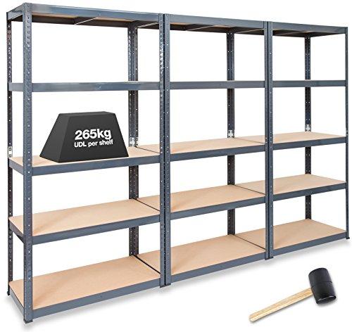 3-x-storalexr-450mm-deep-garage-shelving-racking-units-265kg-shelf-udl-free-mallet