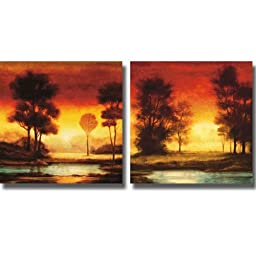 Evening Light I & II by Neil Thomas 2-pc Premium Stretched Canvas Set (Ready to Hang)