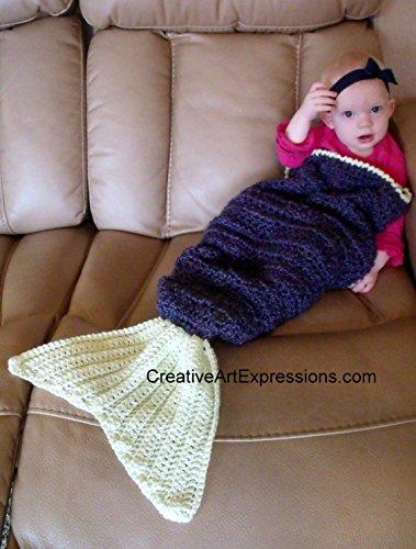 Hand Crocheted Baby Mermaid Blanket
