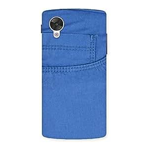 Impressive Blue Jeans Back Case Cover for Google Nexsus 5