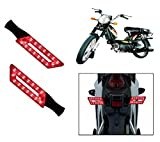 Capeshoppers Parallelo LED Bike Indicator Set Of 2 For TVS SUPER XL S/S - RED