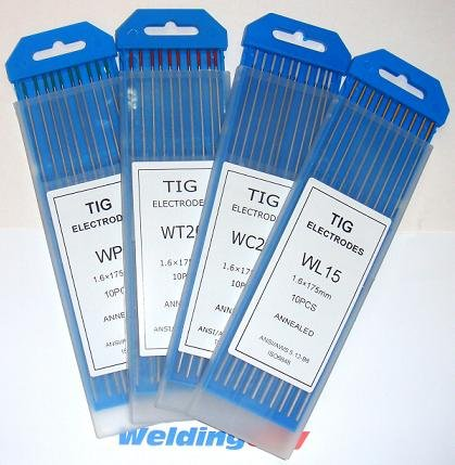 10 TIG Welding Tungsten Electrodes 2% Thoriated (Red) 0.040