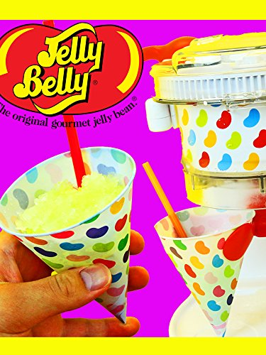 Candy Snow Cone Maker JELLY BELLY Dual Ice Dessert Make 2 Icee Treats at Once