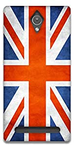 The Racoon Lean BRITISH FLAG hard plastic printed back case / cover for Asus Zenfone C