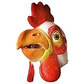 動物マスク 鶏ニワトリ 仮装パーティー 文化祭 コスプレ イベントなど用 可愛いニワトリのマスク 天然ゴムラテックス製