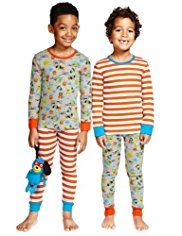 2 Pack Dog Hero Cosy Pyjamas with Toy