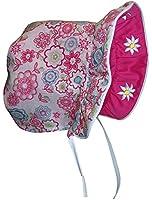 Sun Caps N'Ice Caps Baby Girls Solid to Print Reversible Sun Bonnet