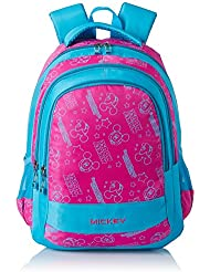 Simba 16 Inches Blue And Pink Children's Backpack (BTS-2041)