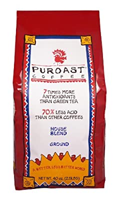 Puroast Low Acid Coffee House Blend Drip Grind, 2.5-Pound Bag from Puroast Coffee