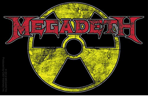 Licenses Products Megadeth Radioactive Sticker