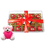Valentine Chocholik Premium Gifts - Excellent Wrapped Chocolates Collection With Teddy