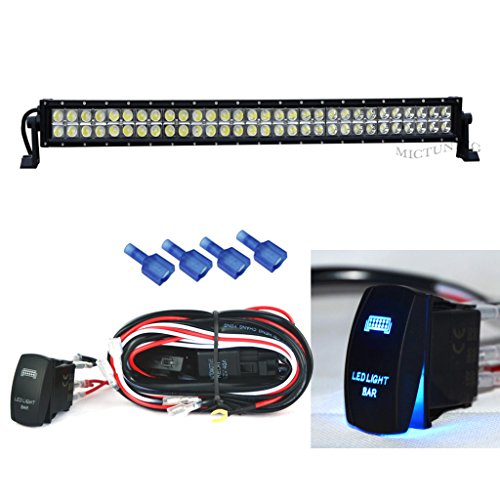 """Curved 52/"""" 300W Philips LED Light Bar Combo Offroad UTE Jeep SUV Ford+Wiring 53/"""""""
