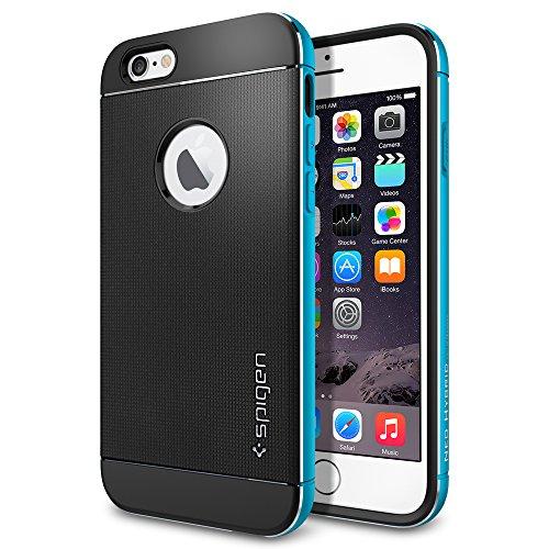 iPhone 6 ケース, Spigen® [ リアル アルミニウム バンパー] ネオ・ハイブリッド メタル iPhone 4.7 (2014)  The New iPhone アイフォン6 (国内正規品) (メタル・ブルー SGP11039)
