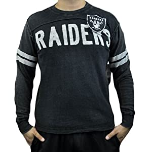 NFL Oakland Raiders Rave Cotton Long Sleeve Premium Shirt Sweatshirt Large LG by G-III Sports