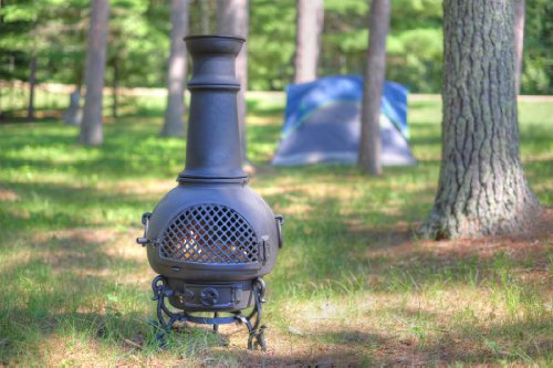 Gatsby Cast Aluminum Chiminea by Blue Rooster  Enjoy the Lavish Elegance of the 1920s with a Fireplace of the 21st Century