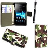 SONY XPERIA Z1 COMPACT/ MINI VARIOUS PU FLIP LEDER HÜLLE ETUI TASCHE SCHALE + GUARD + STYLUS BY GSDSTYLEYOURMOBILE {TM