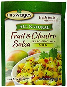 Mrs. Wages Fruit and Cilantro Salsa Mix, .8-Ounce Pouches (Pack of 12)