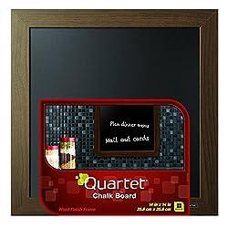 Quartet Chalkboard, 14 x 14 Inches, Wood Finish Frame (90006)