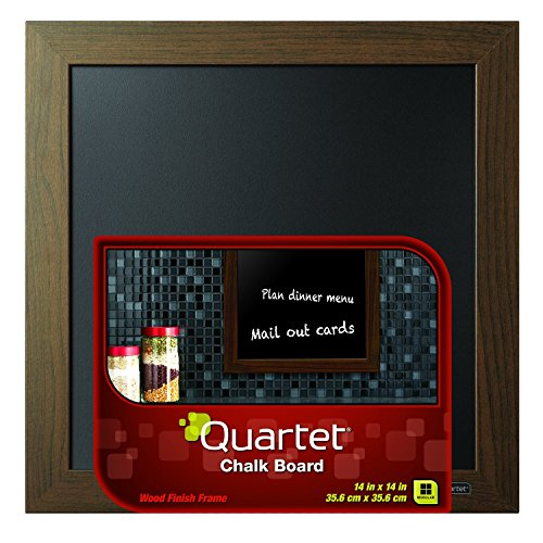 Quartet Chalkboard, 14 x 14 Inches, Wood Finish Frame (90006) - 1