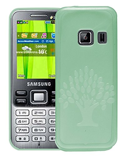 Samsung Metro Duos C3322 Case,Green Soft, Lightweight,Shock Absorbing Tpu Back Case Cover  available at amazon for Rs.195