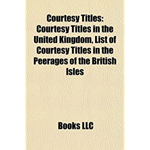 List Of Courtesy Titles | RM.