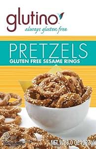 Glutino Gluten Free Pretzel Twists, 8-Ounce Bags (Pack of 12)