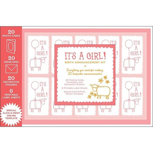 It'S A Girl! Birth Announcement Kit