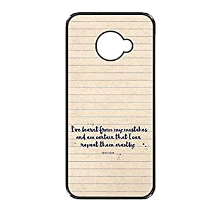 Vibhar printed case back cover for Sony Xperia M2 Learned
