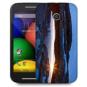 Snoogg Snow Mountain Designer Protective Phone Back Case Cover For Motorola E2 / MOTO E22