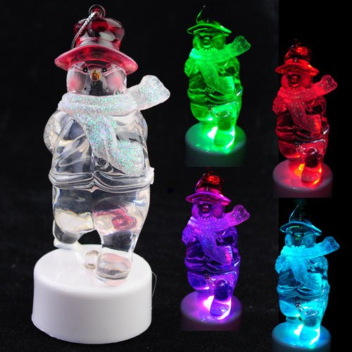 Metro Shop Halloween Christmas Gift Colorful Beautiful Led Light Of Red Cap Snowman